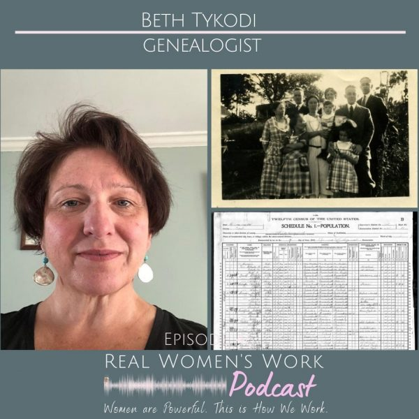 image of Beth tykodi, genealogist and old records old photo